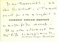 🌓 George Edgar-Bonnet (1881-1967) |CDV autographe signée| Messageries Maritimes