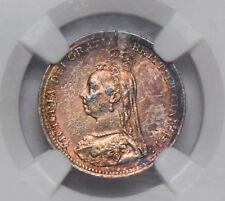 Great Britain 1892 3 Pence silver NGC MS62 golden toning NG0652 combine shipping