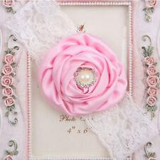 multicolor Bebé Encaje Flor Perla diadema accesorios para pelo