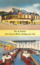Hollywood California Bit Of Sweden Restaurant Antique Postcard K36417