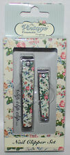 The Vintage Cosmetic Company Floral Toe & Finger Nail Clippers Set **