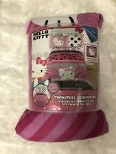 HELLO KITTY PINK TWIN OR FULL COMFORTER 1 SHAM Included Reversible -72 X 86