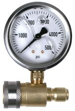 PRESSURE WASHER PRESSURE GAUGE 5000 PSI GLYCERIN FILLED KIT 3/8 QUICK CONNECT