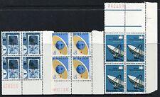 1968 World Weather Watch & Satelitte Communications - MUH Numbered Blocks of 4