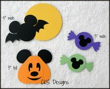 Die Cut Halloween Disney Mickey Mouse Bat Candy Scrapbook Paper Piecing CKS