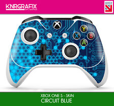 KNR6627 PREMIUM XBOX ONE S CONTROLLER SKIN CIRCUIT BLUE ELECTRIC