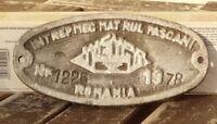 Lokschild, Fabrikschild,Typenschild Intrepmec Mat Rul Pascani Rumänien von 1978