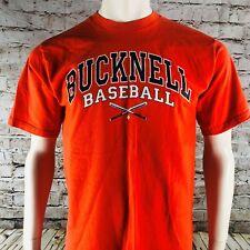 Bucknell University Bison Baseball Orange Men's Short Sleeve T-Shirt