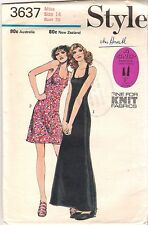 Style Sewing Pattern 3637, Vintage Halter Neck Dress, Size 14, Uncut