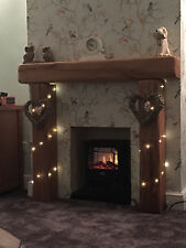 "Solid Oak Fireplace Surround, Made to MEASURE!!! - 6"" x 6"" SOLID RUSTIC OAK BEAM"