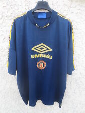 Maillot MANCHESTER UNITED training UMBRO shirt jersey trikot vintage L