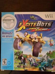 New ExciteBots: Trick Racing Nintendo Wii with Bonus Wheel