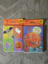 16 American Greetings Halloween Cards With Envelopes 2 8 Packs New Sealed...