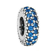 GENUINE PANDORA Silver Blue Pave Spacer Charm 791359NCB FREE DELIVERY