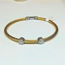CHARRIOL Yellow Cable & Diamonds Bracelet NEW