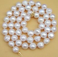 "HUGE 12-13mm Natural South Sea White Pearl Necklace 18"" 14k"
