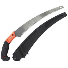 Curved Tree Pruning Saw Rigid Fixed Handle Garden Wood Pruner + Blade Holster