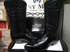 Tony Mora  Western's Women's black Lizard Leather boot 650 Size 7.5 M New