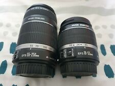 canon 55-250mm lens IS with image Stabilizer plus 18-55mm lens