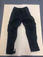 Mens Big & Tall Cargo Fleece Sweatpants Black Large