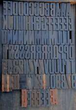 Letterpress Wood Printing Blocks 90 Pcs 354 Tall Wooden Type Woodtype Alphabet