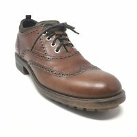 Men's Antonio Maurizi Oxfords Shoes Size 40 EU/7 US Brown Leather Wingtip Q15