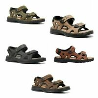 Mens Hush Puppies Simmer Brown Greystone Grey Tan Sandals Leather Shoes