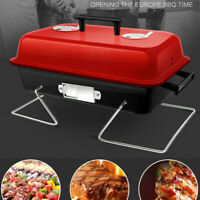 Portable Barbecue Charcoal Grill BBQ Stainless Indoor Outdoor Cooking Grill Set