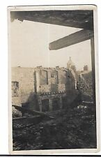WW1 RP PPC Unposted Showing War Damage to Industrial Building, Probably France