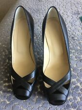 Hobbs Black Leather Shoes Size 38