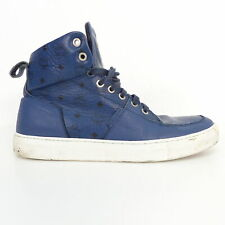 MICHALSKY X MCM Sneakers High Top Turnschuh Echt Leder Blau EUR 42 Herren Shoes