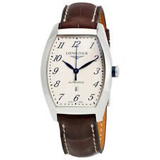 Longines Evidenza Silver Dial Brown Leather Ladies Watch L23424734