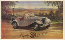 MG TF original Factory postcard No Ref Number