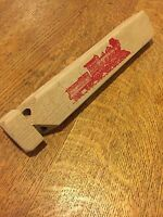 Vintage  Child's Wood Toy Train Whistle Blow In the End it Works