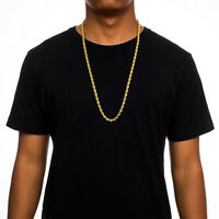 """14K Solid Yellow Gold 5mm Rope Chain Necklace 16"""" 18"""" 20"""" 22"""" 24"""" 26""""  28"""" 30"""""""