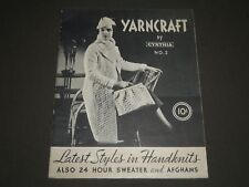 1930'S YARNCRAFT BY CYNTHIA NO. 2 CATALOG - LATEST STYLES IN HANDKNITS - J 2304