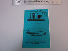 VINTAGE 1997 HILINE MODEL AIRPLANE ELECTRIC MOTOR & KIT CATALOG *VG-COND*