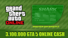 PlayStation 4 (PS4) GRAND THEFT AUTO ONLINE (GTA 5) MONEY SHARK CARD (3,100,000)