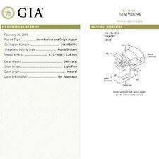 0.48 CARAT NATURAL LIGHT PINK GIA CERTIFIED ROUND LOOSE DIAMOND