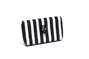 Lux De Ville Spooky Wallet (White Striped)