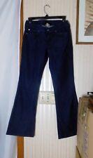 "Lucky Brand Women's Jeans Size 4/27 Zoe 5 Pocket Boot Cut Dark Wash 7 1/2"" Rise"
