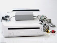 Nintendo Wii Konsole Weiss + original Nintendo Sensorleiste + Kabel