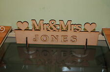Mr & Mrs Top Table Wedding Decoration Sign Personal (Paint yourself) DIY Bride