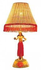 "Hawaiian  Hawaii Motion Vintage Hula Lamp ~ Hula Girl In Dancing Pose 26"" #50005"