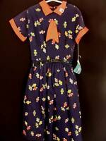 VERY RARE DEADSTOCK 1950'S GIRLS COTTON  DRESS SIZE 6-7