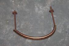 Ancienne poignée métal couleur cuivre pour meuble tiroir porte - 10,3 cm