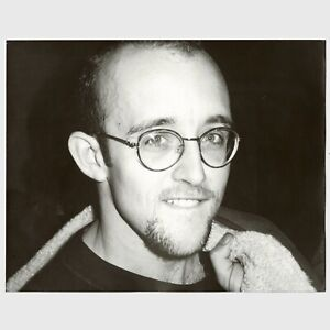 Andy Warhol Rare Vintage 1980s Original Keith Haring B&W Photograph FL05.00854