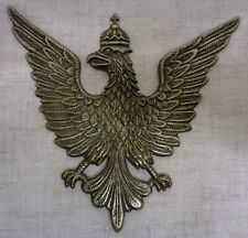 Polish Crowned Eagle Stamped in White Brass Large Size
