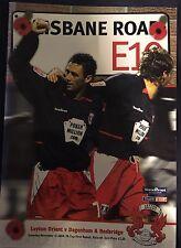 Leyton Orient Vs Dagenham & Redbridge Programme. FA Cup First Round, 13.11.2004