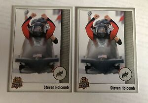 2014 Upper Deck 25th Anniversary 2 Card Lot #48 Of Steven Holcomb !!!MINT